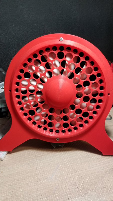 3D Printed 200mm Fan Shroud Prototype